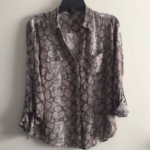 The Limited Snakeskin Career blouse M